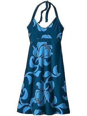 XS, exotic floral: big sur bl, Patagonia Iliana Halter Neck Halter NEW