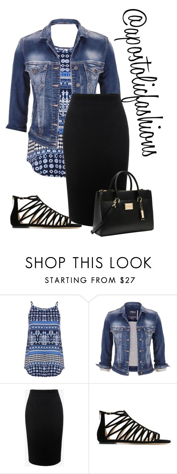 """""""Apostolic Fashions #1424"""" by apostolicfashions on Polyvore featuring Dorothy Perkins, maurices, Alexander McQueen, Jimmy Choo and Calvin Klein"""