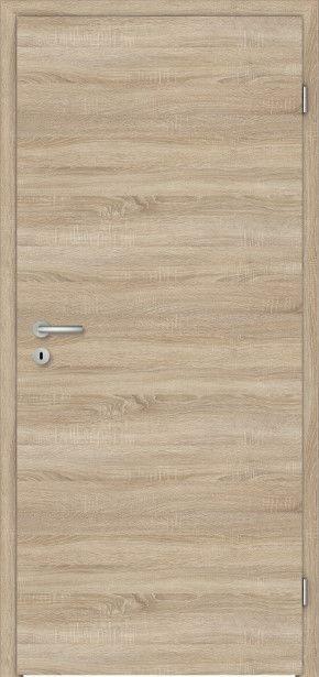 PRÜM Zimmertür CPL Touch Eiche quer strukturiert Röhrenspan Rundkante
