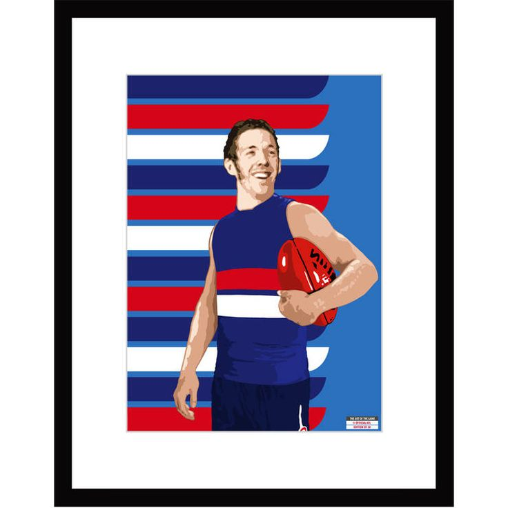 Western Bulldogs 2014 Framed 'The Bob Murphy Print $389.99. Also available unframed for $189.99