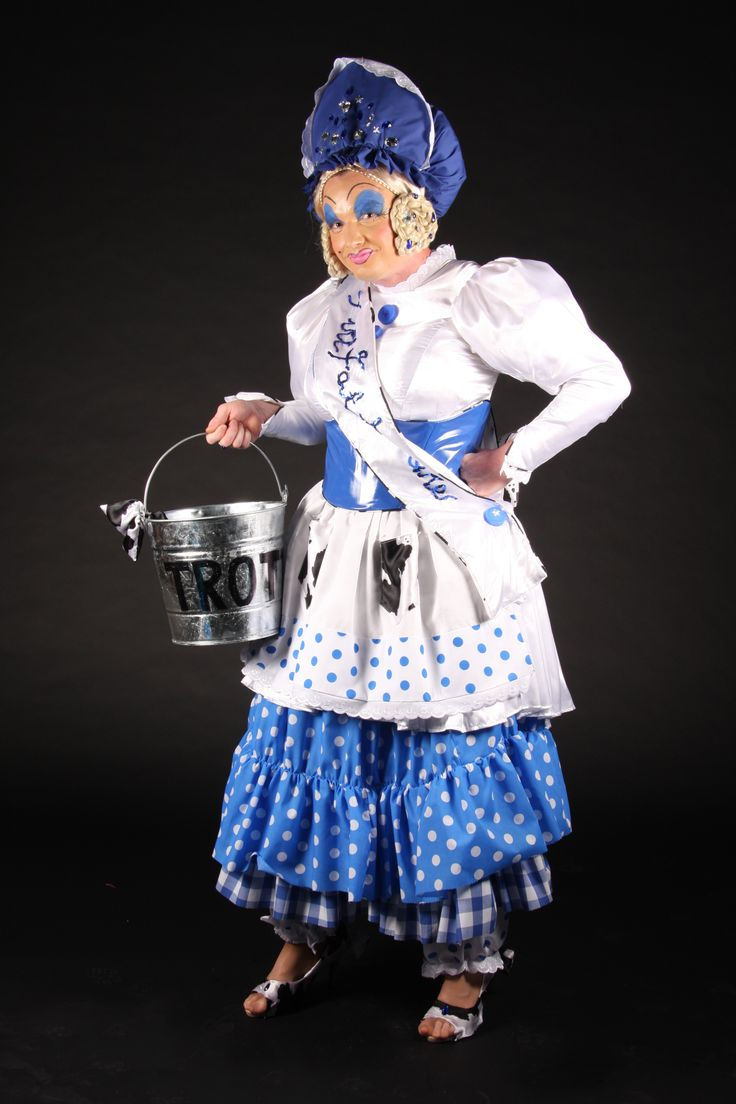 Dame Trott pantomime costume, Jack in the Beanstalk.