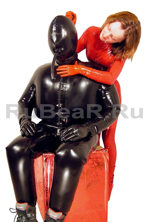 Rubber bondage inflatable