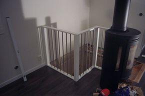 Renovering av innertrappa - göra eget skyddsräcke. Förutsättningar Trappan leder från vardagsrummet ner till källaren och var en ren furutrappa. Gamla skyddsräcket var trä som var lackat och...
