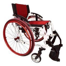Silla de ruedas plegable roja Sport Line. #antiescaras. #Silladeruedas #movilidad #accesibilidad #escaras #terceraedad #mayores #discapacidad #ortopedia #ortopediaplus #Wheelchair #aluminio #aluminium #orthopedia #orthopedic #cool