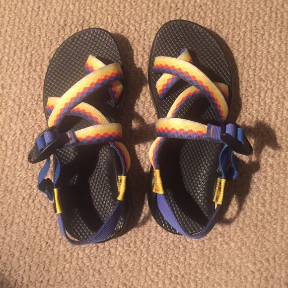 Women's Custom Z2 Chacos Size 7 Beautiful and unique Chacos! Only pair in the world like this!! Only worn three times. Strong and durable vibram soles. Women's size 7 Chacos Shoes Sandals