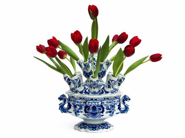 Tulip vase, Delft porcelain style. Saw one in Amsterdam, should have brought it home