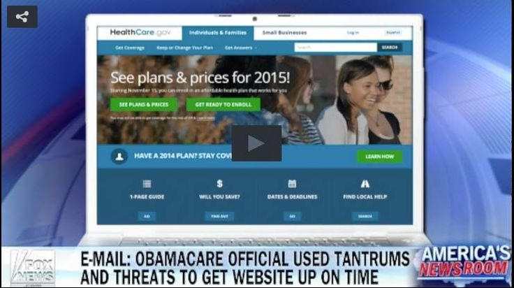 "Obamacare Official Used Threats And Tantrums To Ensure Rollout Of Website Was On Time In 2013 ~ ""...you haven't lived through the temper tantrums and threats of the last nine months."" 11.19.14 ~  They are all insane!"
