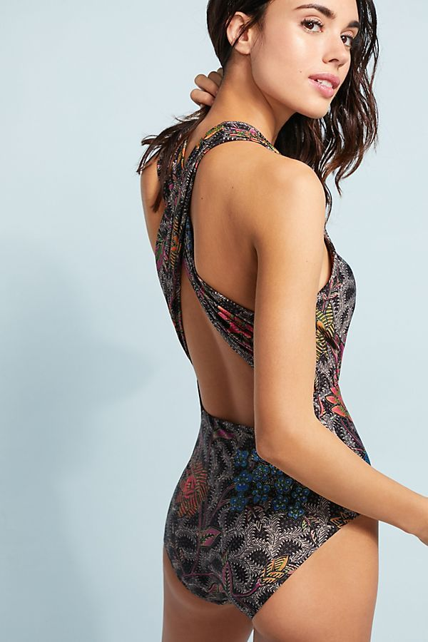 a68e2b68a039d Plunge One-Piece Swimsuit | style | Plunging one piece swimsuit ...