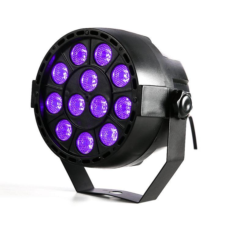 Daya tinggi 36 w 12 leds suara aktif uv led tahap par cahaya ultraviolet led spotligh lampu untuk pesta disko dj proyektor mesin