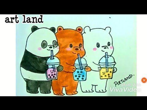 رسم الدببة الثلاثة شهاب قطبي باندا We Bare Bears Cute Drawing Youtube Art Artland Character