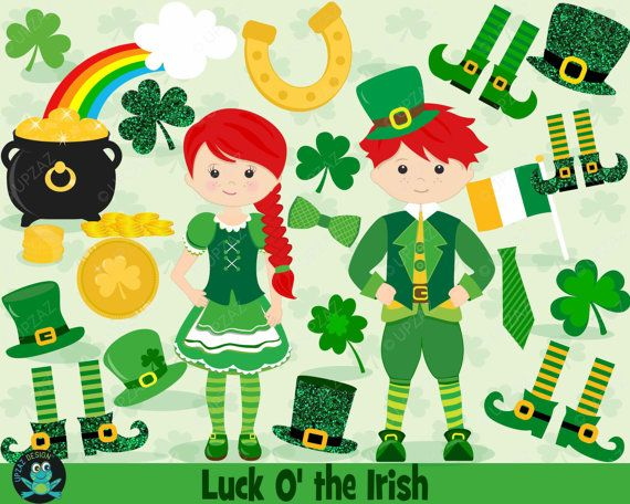 85% OFF SALE Saint Patrick's Day Clipart, Shamrock Clipart, St Patty's Day, St Paddy's Day, Commercial Use, Digital Clipart - UZ865