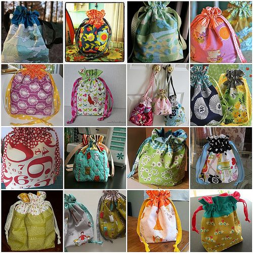 In Color Order: Lined Drawstring Bag Pattern