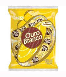 LACTA OURO BRANCO, Bombom Recheado Coberto Com Choclate Branco 1 kilo