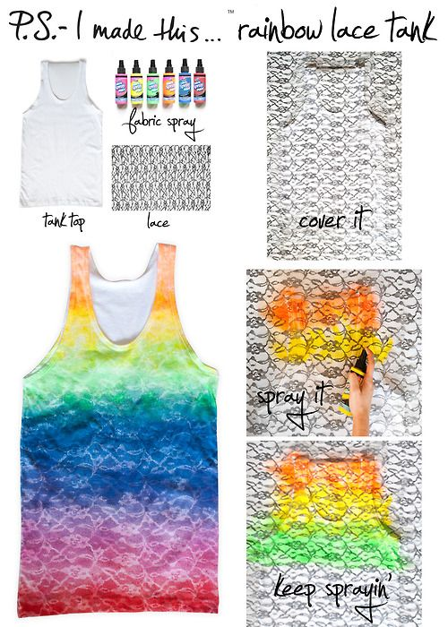 Rainbow lace tank! This is sososo cute