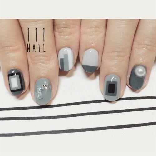 ▪️◻️▫️◼️#Nail#art #nailart…
