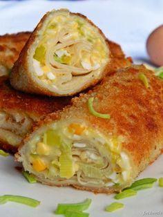 Apetyt i Smak: Krokiety jajeczno - porowe z kukurydzą