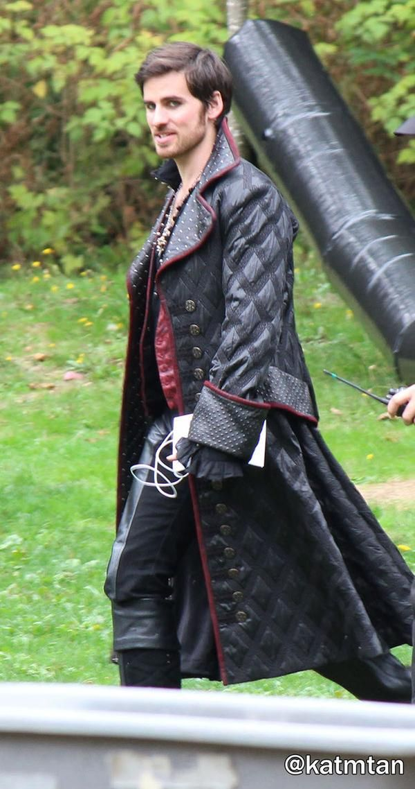 Colin O'Donoghue on the set