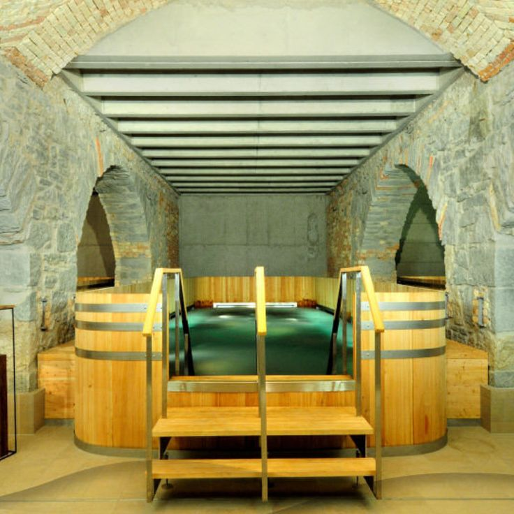 Zurich's Thermalbad and Spa - a former 19th century brewery, located inside a mountain, turned spa