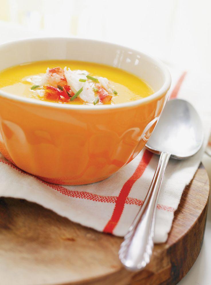 Crème de poivrons, garniture au crabe | Ricardo