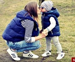 i know its a mom and son but it could easily be changed to a girls outfit