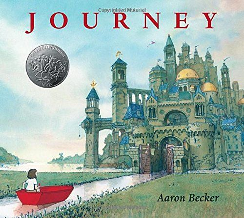 A lonely girl draws a magic door on her bedroom wall and through it escapes into a world where wonder, adventure, and danger abound... A beautiful, wondrously illustrated, wordless picture book, that the adults will enjoy as much as the children.