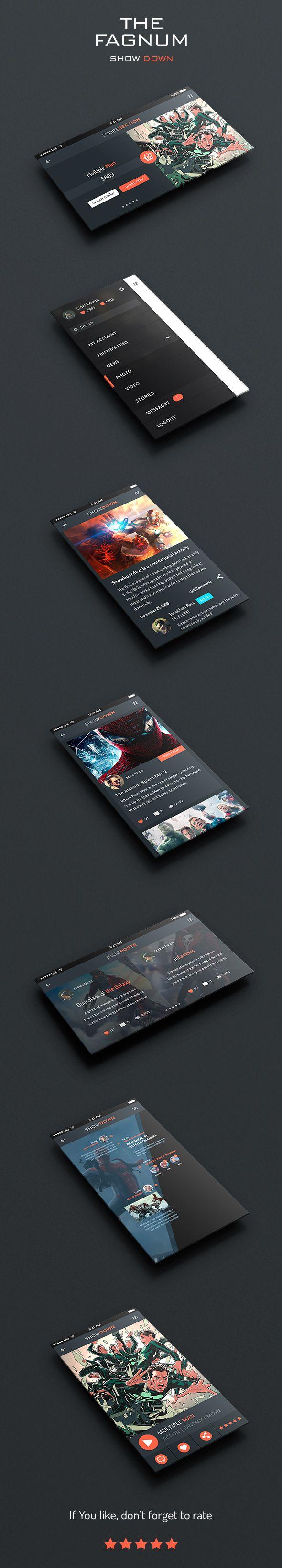 ShowDown UI on Behance
