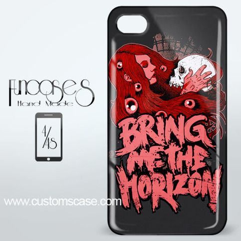 Bring Me The Horizon Skull and Girl iPhone 4 or 4S Case Cover from Funcases