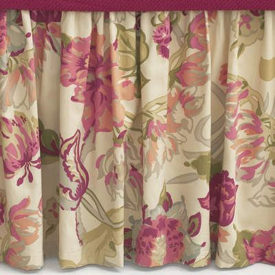 #PineConeHillOutlet Dusty Floral Bed Skirt