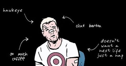 """312 Likes, 1 Comments - Clint Barton (@hawkeye_official) on Instagram: """"Not mine// I think my concussions are getting concussions. #hawkeye"""""""