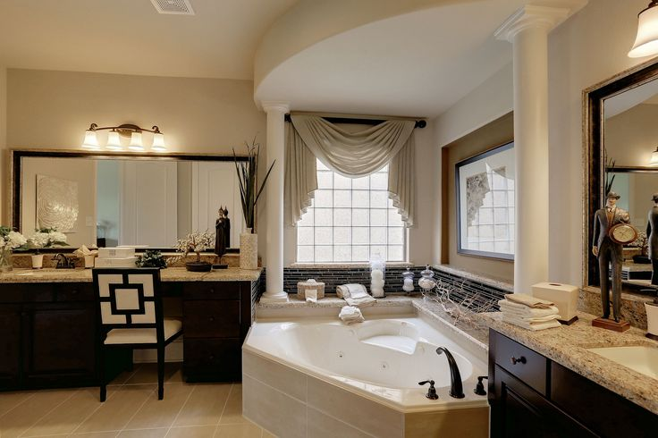 17 best images about the bellagio by westin homes on for Model home bathroom photos