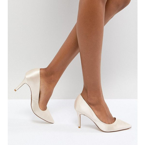 Dune London Bridal Exclusive Aurrora Court Shoes (7.640 RUB) ❤ liked on Polyvore featuring shoes, pumps, beige, ballet pumps, embellished pumps, bride shoes, ballerina shoes and ballerina pumps