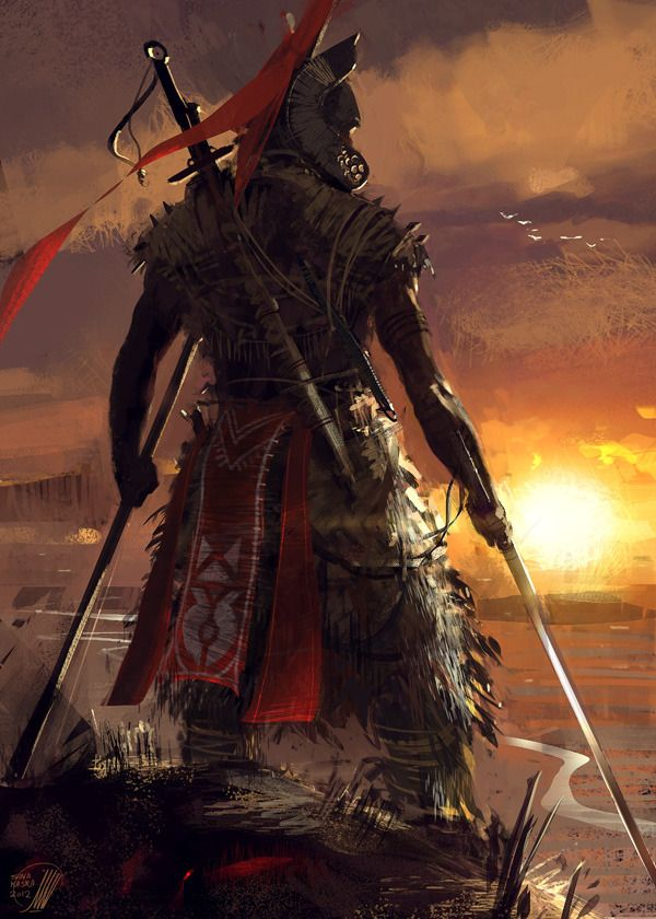 Digital Art by Sina Pakzad Kasra.  Something in this print speaks to me. Lone warrior standing watch on the wall. Someone always must stand watch. The stoic lone warrior. If people only knew...