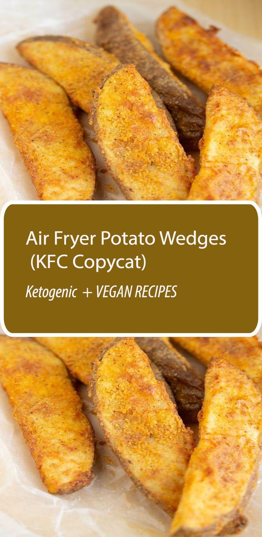 Air Fryer Potato Wedges (KFC Copycat) Air fryer recipes