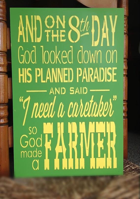 So God Made A Farmer John Deere Green by theshabbyfarmchic on Etsy, $35.00