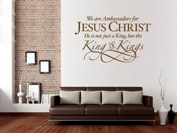 christian wall decal ambassadors for jesus christ code on wall stickers id=75793