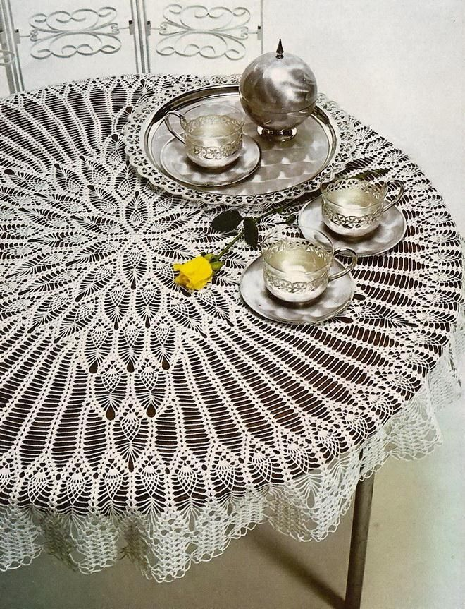 Crochet Round Tablecloth Crochet Tablecloth Pattern Crochet Doily Patterns Doily Patterns