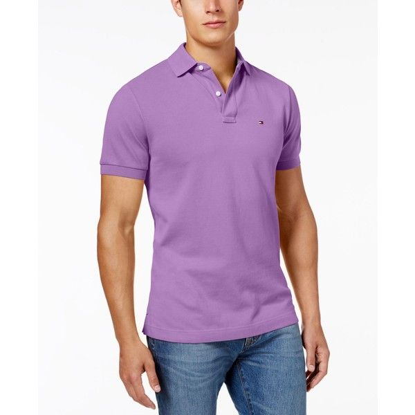 Tommy Hilfiger Men's Custom-Fit Ivy Polo (21 JOD) ❤ liked on Polyvore featuring men's fashion, men's clothing, men's shirts, men's polos, african violet, tommy hilfiger mens shirts, mens polo shirts and men's african shirts