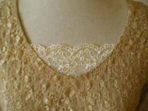 adding lace to a low neckline