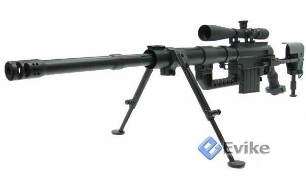 z ARES CheyTac Intervention M200 Gas Sniper Rifle. (Black), Airsoft Guns, Evike…