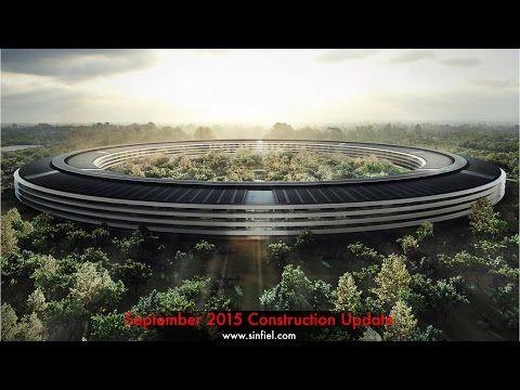 Новата сграда на Apple от въздуха (ВИДЕО)