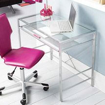Walmart: Mainstays Glass-Top Desk and Desk Chair, Multiple Colors