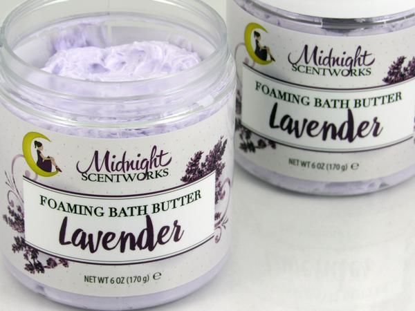 Our Lavender Foaming Bath Butter has the consistency of marshmallow fluff, and dipping your fingers into it is like reaching into a cloud. You need this!