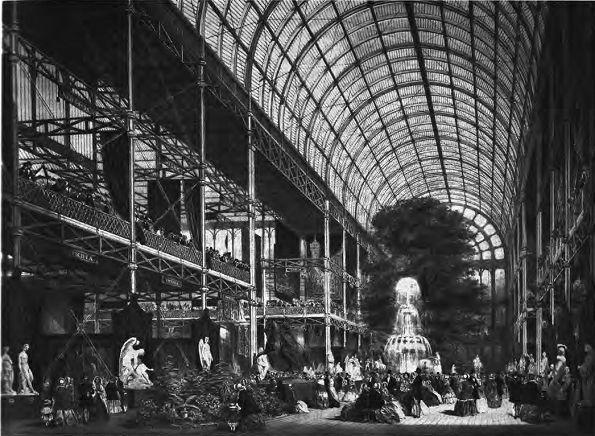 Хрустальный дворец. Интерьер. Джозеф Пэкстон. 1851
