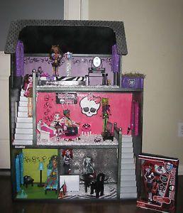 Charming Monster High Custom Doll House | Custom OOAK Wooden Monster High Doll House  Plus Furniture And