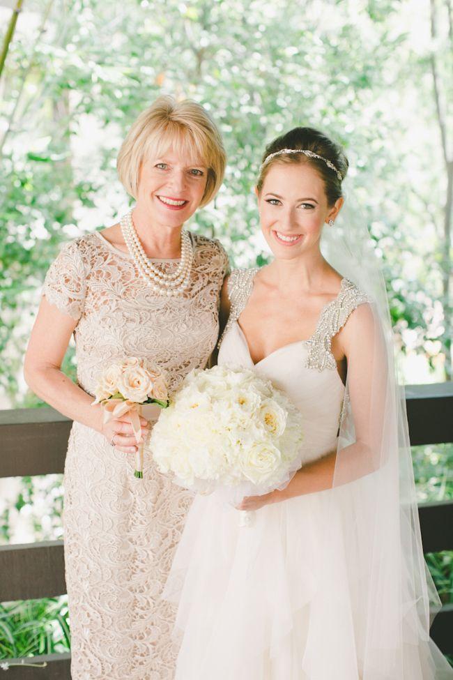 mother of bride in nude dress http://www.trendybride.net/beautiful-mother-of-the-bride-dresses/ #trendybride