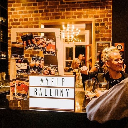 Yelp Balcony party with the KeepSnaps Instagram printer in Sydney #yelp #sydney #photo #instagram