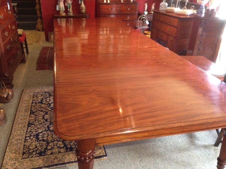 Antique restoration of a 1820 Georgian 15ft long dining table – Daniel Chapman antique furniture restoration