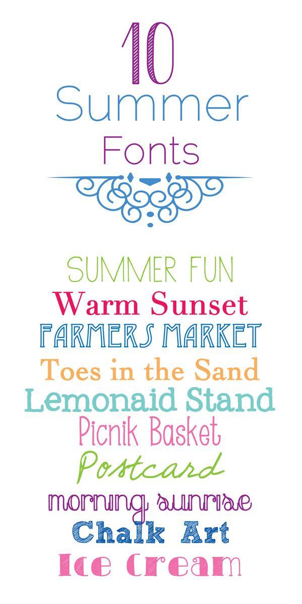 10 {Free} Summer Fonts