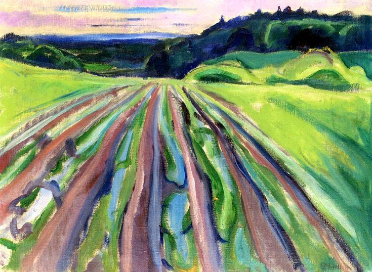 Fields at Ekely  Edvard Munch - 1916