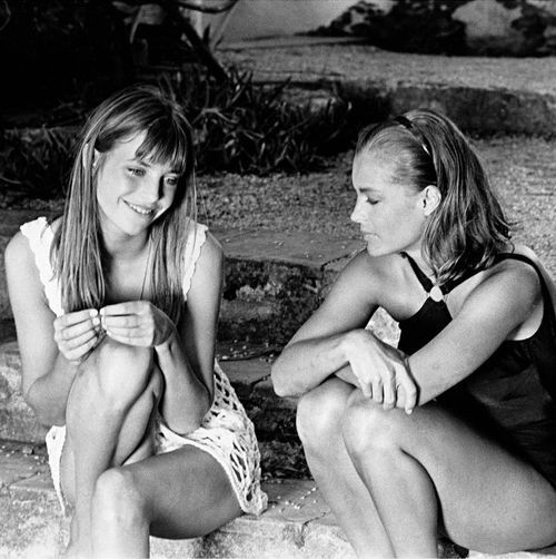 Jane Birkin and Romy Schneider in La Piscine. both gorgeous in this film…including Alain Delon!
